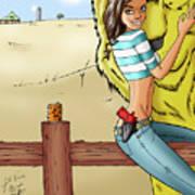 Dorothy In Kansas Poster