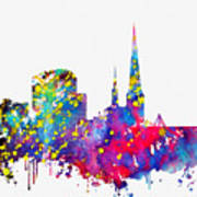 Dortmund Skyline-colorful Poster