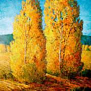 Dos Arboles De Taos Poster