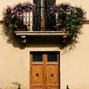 Double Doors And Balcony Poster