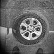 Double Exposure Manhole Cover Tire Holga Photography Poster