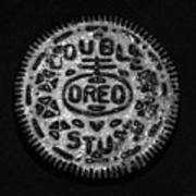 Doulble Stuff Oreo In Black And White Poster