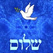 Dove - Shalom Poster