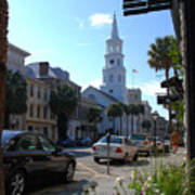 Down Town Charleston Poster