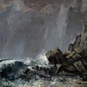 Downpour At Etretat  Poster