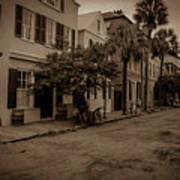 Vintage Downtown Charleston South Carolina Poster