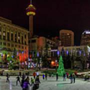 Downtown Christmas Poster