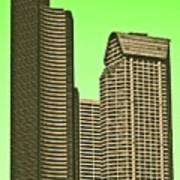 Downtown Hi-rise Poster
