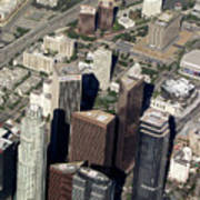 Downtown Los Angeles From Above Poster