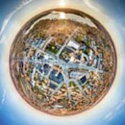 Downtown Mukwonago Little Planet Poster