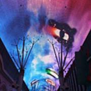 Downtown Vegas Night Poster