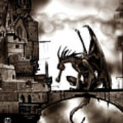 Dragon And Castle Poster