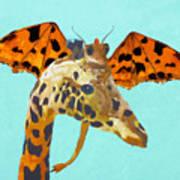 Dragon And Giraffe Poster