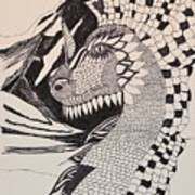 Dragon - Zentangle 16-04 Poster