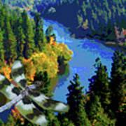 Dragonflight Over The Spokane River Poster