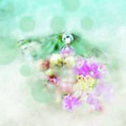 Dragonfly And Polka Dots Poster