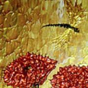 Dragonfly At Dawn Poster