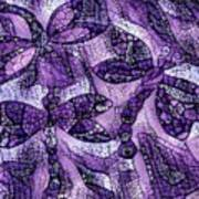 Dragons In Lavender Mosaic Poster