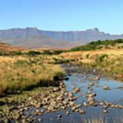 Drakensberg Amphitheatre Mountain Range In Kwazulu Natal, South Africa Poster