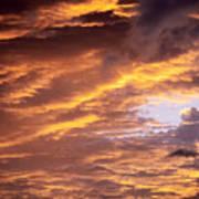 Dramatic Orange Sunset Poster
