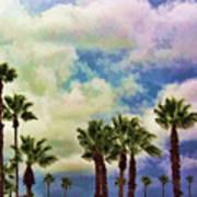 Dramatic Palms Poster
