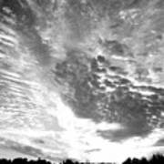 Dramatic Sky Bw Poster