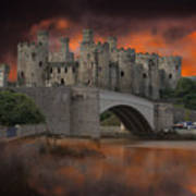 Dramatic Sky Over Castell Conwy Poster