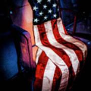 Draped American Flag Poster