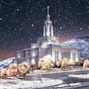Draper Temple - First Snowfall Poster