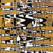 Drawing Composition Abstract Poster
