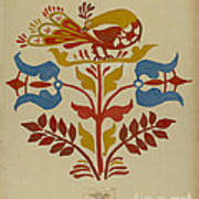 "Drawing For Plate 4: From Portfolio ""folk Art Of Rural Pennsylvania"" Poster"