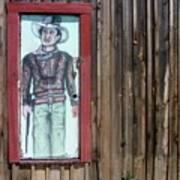 Drawing John Wayne Hondo  Medicine Horse Black Canyon City Arizona 2005 Poster