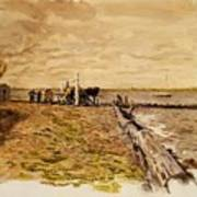 Drawing The Seine 1882 Poster