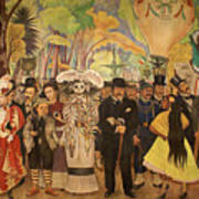 Dream In The Alameda Diego Rivera Mexico City Poster