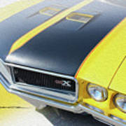 Streakin' Yellow Buick Poster