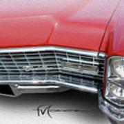 Redhead Cadillac Poster