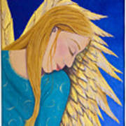 Dreaming Angel Poster by Jacqueline Lovesey