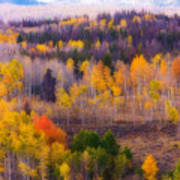 Dreamy Rocky Mountain Autumn View Poster