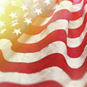 Dreamy Usa Flag 1 Poster
