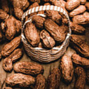 Dried Whole Peanuts In Their Seedpods Poster