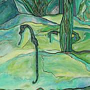 Drifting Seahorse Poster