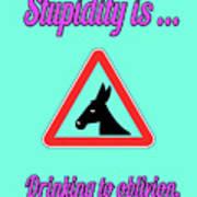 Drinking Bigstock Donkey 171252860 Poster
