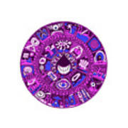 Drop Mandala Purple And Blue Poster
