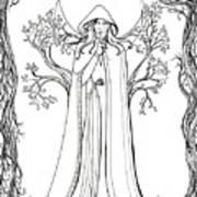 Druid Woman Shush Poster