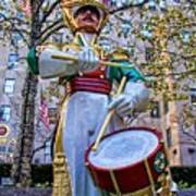 Drummer Boy  In Rockefeller Center Poster