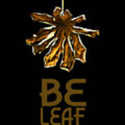 Dry Leaf Collection Be Leaf Poster