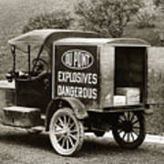 Du Pont Co. Explosives Truck Pennsylvania Coal Fields 1916 Poster
