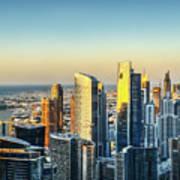 Dubai Towers At Sunset. Poster