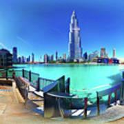 Dubai Burj Khalifa Panorama Poster