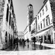 #dubrovnik #b&w #edit Poster by Alan Khalfin